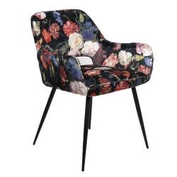 Krzesło w Kwiaty Tapicerowane C