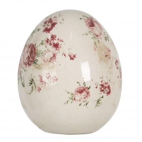 Ceramiczna Kura w Kwiaty A