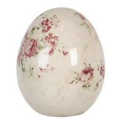 Ceramiczne Jajo w Kwiaty A