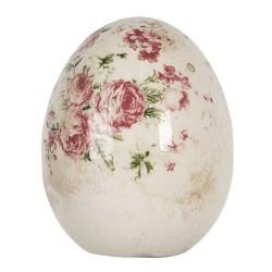 Ceramiczne Jajo w Kwiaty B