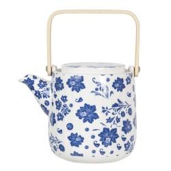 Dzbanek Porcelanowy w Niebieskie Kwiaty A