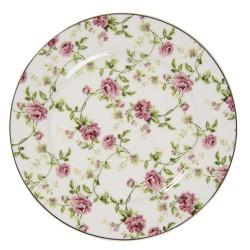 Porcelanowe Talerzyki Deserowe w Kwiaty B