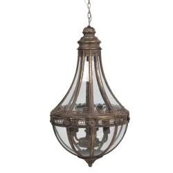 Lampa Sufitowa z Metalowymi Liśćmi