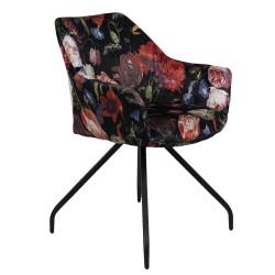 Krzesło w Kwiaty Tapicerowane E