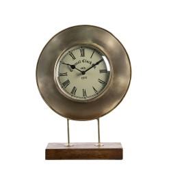 Zegar Stołowy Czarno-Złoty