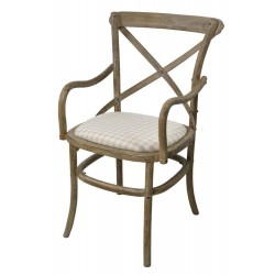 Krzesło Prowansalskie z Podłokietnikami Limena w Kratę