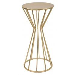 Złoty Stolik Metalowy Glam Wysoki B Mauro Ferretti