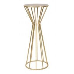 Złoty Stolik Metalowy Glam Wysoki A Mauro Ferretti