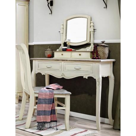 Praktyczna i stylowa konsola z szufladami to pomysł na atrakcyjne biurko lub kobiecą toaletkę.