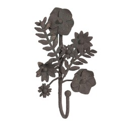 Wieszak Ścienny w Stylu Prowansalskim Kwiatki B