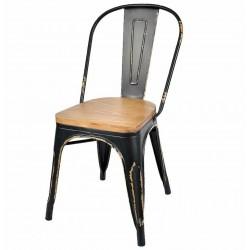 Krzesło Belldeco Spring Metalowe Czarne