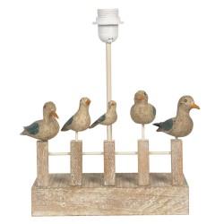 Lampa Stołowa z Drewnianymi Ptaszkami