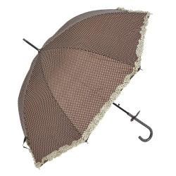 Parasolka w Kropki Granatowa z Falbanką