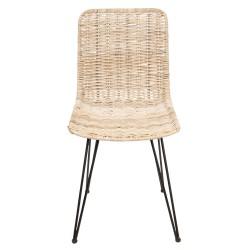 Krzesło z rattanowym siedziskiem