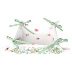 Koszyk Na Pieczywo w Liście i Kwiaty