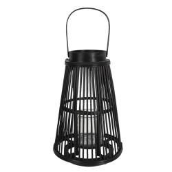 Drewniany Lampion Stożek Czarny A