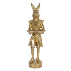 Złoty Królik Figurka z Tacką