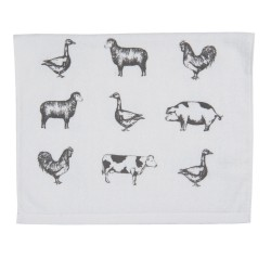 Ręcznik Do Rąk ze Zwierzętami Wiejskimi