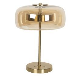 Lampa Stołowa Metalowa ze Szklanym Kloszem LED A