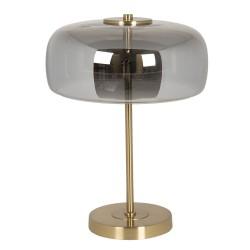 Lampa Stołowa Metalowa ze Szklanym Kloszem LED B