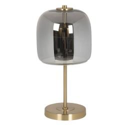 Lampa Stołowa Metalowa ze Szklanym Kloszem LED D