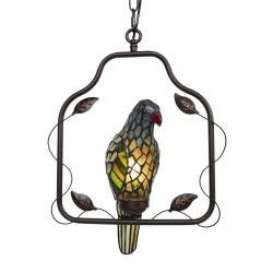 Lampa Sufitowa Tiffany z Ptaszkiem
