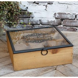 Drewniane Pudełko z Przegródkami B