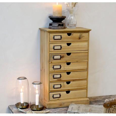 Drewniana szafka z szufladami będzie genialnym uzupełnieniem wolnej przestrzeni na każdym biurku industrialnym.