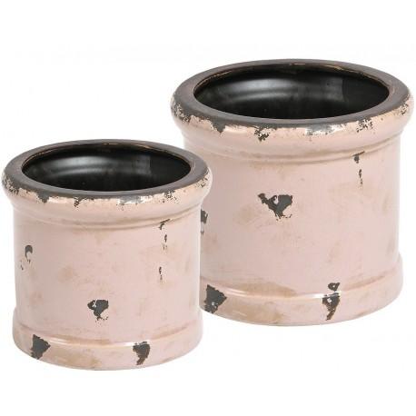 różowa ceramiczna donica marki belldeco
