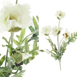 Roślina Sztuczna Aluro Bukiet 5 Białych Maków