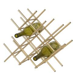 Stojak Na Wino Złoty