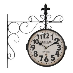 Zegar Dworcowy Dwustronny Retro D