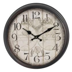 Zegar Ścienny z Mapą A