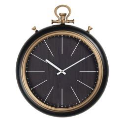 Czarny Zegar Ścienny Vintage