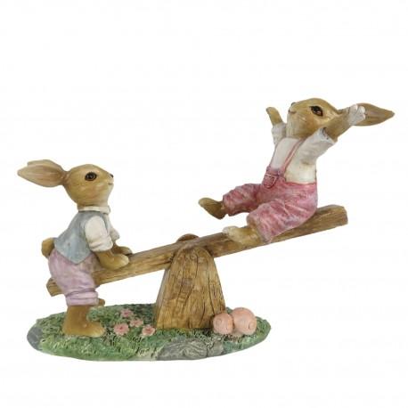 Figurka Wielkanocna Zajączek Na Huśtawce