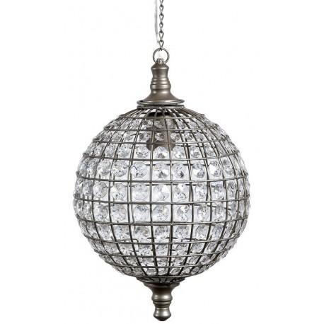 Kula lampa ozodbiona dużą ilością kryształków