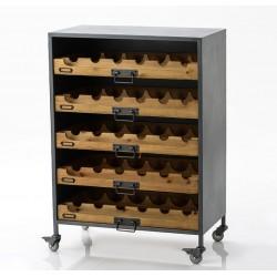 Komoda Na Wino w Stylu Industrialnym