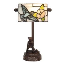 Lampa Stołowa Tiffany z Ptaszkiem