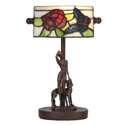 Lampa Stołowa Tiffany z Motylem