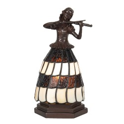 Lampa Stołowa Tiffany Figura Kobiety