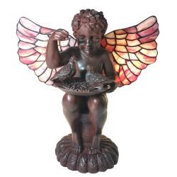Lampa Stołowa Tiffany Anioł A