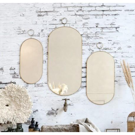 Duże, owalne lustro to doskonały pomysł na uzupełnienie każdej aranżacji w stylu loft i nie tylko!