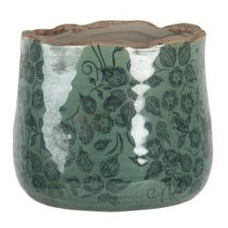 Ceramiczna Osłonka Na Doniczkę Zielona M