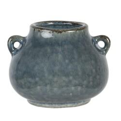 Ceramiczna Osłonka Na Doniczkę Szaroniebieska L