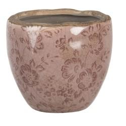 Ceramiczna Osłonka Na Doniczkę Różowa M