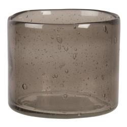 Szklany Świecznik Na Tealight z Bąbelkami Powietrza A