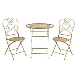 Meble Ogrodowe Prowanalskie Stolik z Krzesłami 12