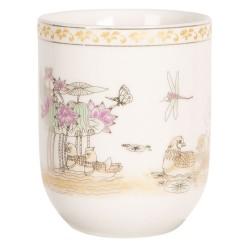 Porcelanowe Czarki w Stylu Japońskim L