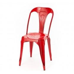 Krzesło Loft Metalowe Czerwone
