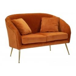 Pomarańczowa Sofa Na Złotych Nóżkach Mauro Ferretti